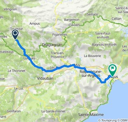 De Route de Draguignan, Villecroze à 1–25 Place Formigé, Fréjus