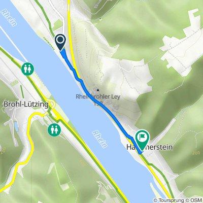 Rheinbrohl Bf nach Dorfstraße 2, Hammerstein