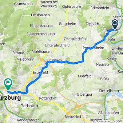 Breiter Weg 11, Eisenheim nach Bahnhofplatz 4, Würzburg