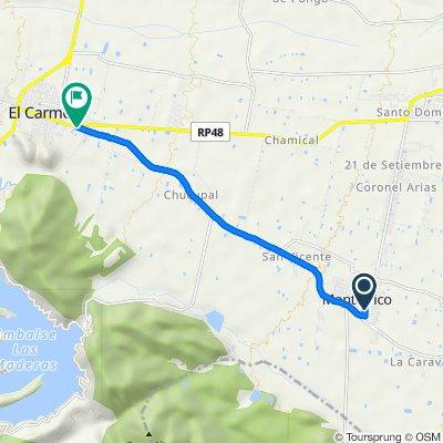 De Hugo Wast, El Carmen a Ruta Provincial 42, El Carmen