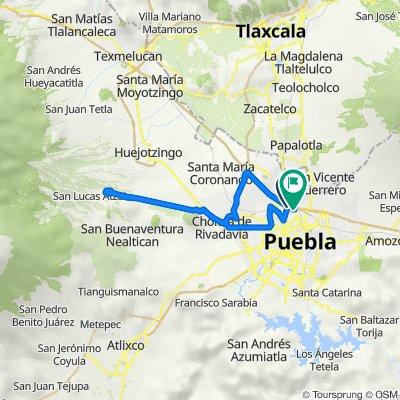 De Calle Cuauhtémoc Oriente 58, Heroica Puebla de Zaragoza a Calle Cuauhtémoc Oriente 803, Heroica Puebla de Zaragoza