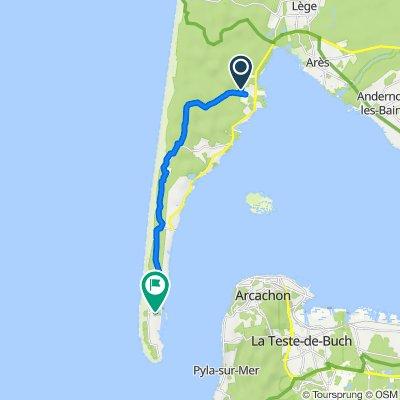 Itinéraire vers 4 Promenade du Tour du Phare, Le Cap-Ferret