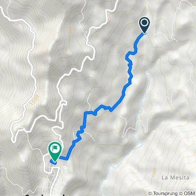 Ruta a Carrera 7 10-11, San Juan de Rio Seco
