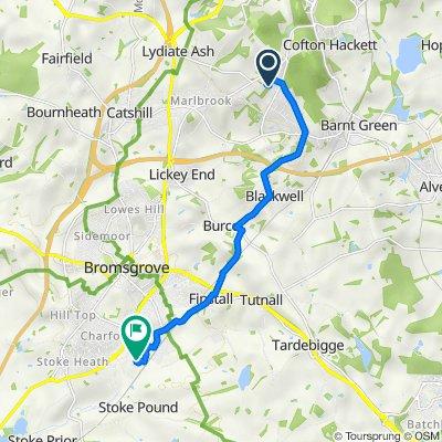 11 Pine Grove, Birmingham to Court F, George Road, Bromsgrove