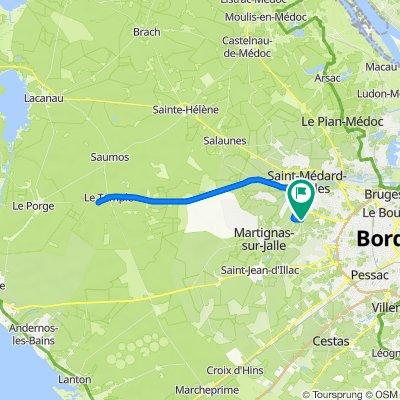 De 83 Avenue Denis Papin, Saint-Médard-en-Jalles à 29 Avenue Mirabeau, Saint-Médard-en-Jalles