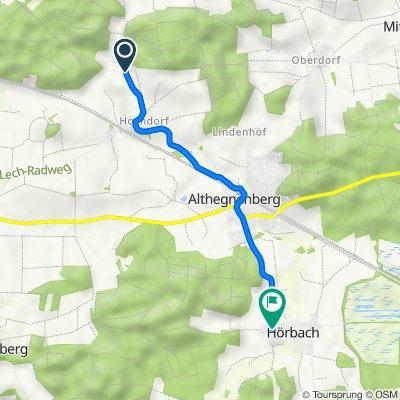 Route nach Althegnenberger Straße 9C, Althegnenberg
