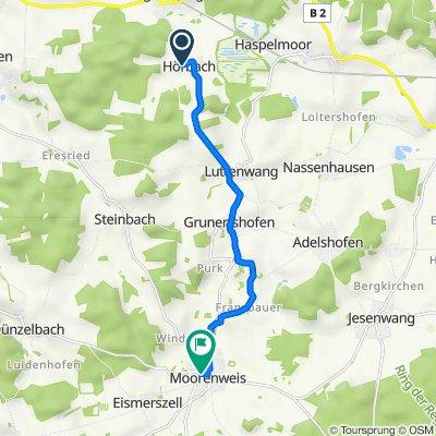 Althegnenberger Straße 3, Althegnenberg nach Eismerszeller Straße, Moorenweis
