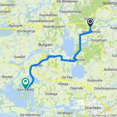 Opper 4–6, Kootstertille naar Feantersdyk 2–2A, Earnewâld