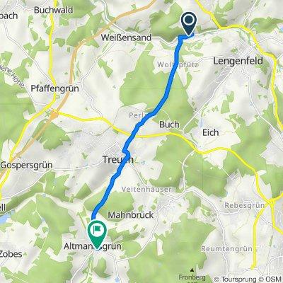 Siedlung, Lengenfeld nach Butterbergweg 1, Treuen