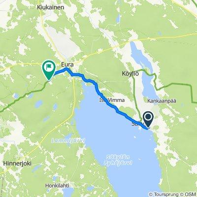 Palomiehentie 9, Säkylä to Neittamontie 330, Eura