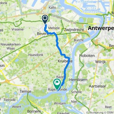 Route naar Mercatorplein 8–11, Kruibeke
