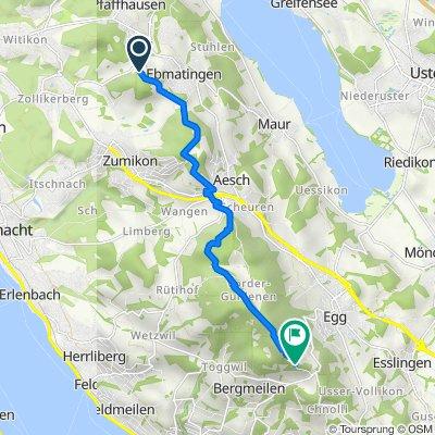 Brunnenholzweg, Maur nach Hochwacht 551, Egg bei Zürich