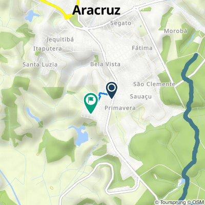 Rota desde Avenida Vitória, Aracruz