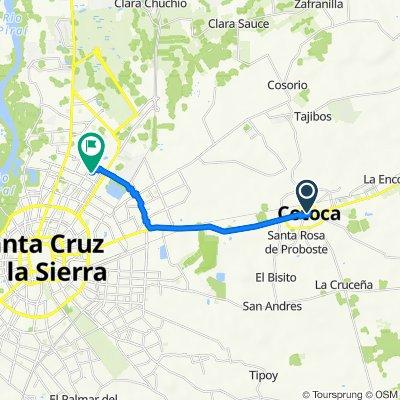 De Avenida Santa Cruz 102, Cotoca a Paraiso 140, Santa Cruz de la Sierra