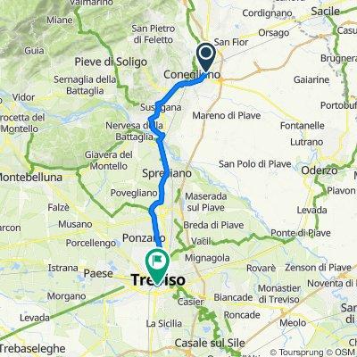 Da Via dell'Industria 29, Conegliano a Piazzale Duca d'Aosta 14, Treviso