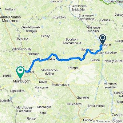 Moulins Montluçon 86 km