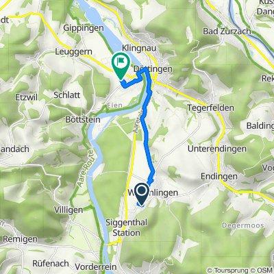 Lindenstrasse, Würenlingen nach Enzianweg 13, Kleindöttingen