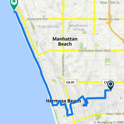 2310 Grant Ave, Redondo Beach to Marvin Braude Bike Path, El Segundo
