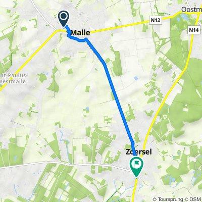 Kasteellaan 2A, Malle naar Zandstraat 12, Zoersel