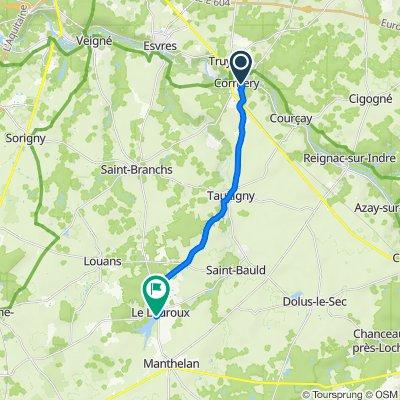 Itinéraire à partir de 7 Rue des Quarts, Cormery