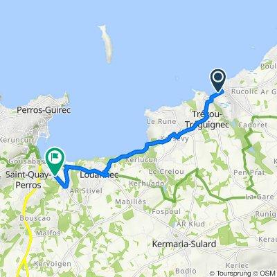 Itinéraire vers 51 Route de Kernu, Louannec