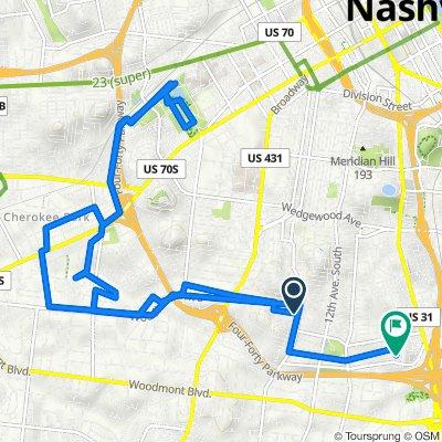 1655–1661 Rosewood Ave, Nashville to 2931 Vaulx Ln, Nashville