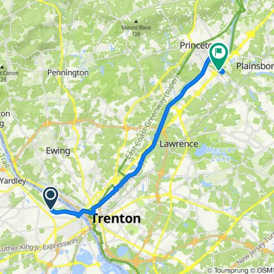Morrisville to Riegelsville, Morrisville to 266 Varsity Ave, Princeton
