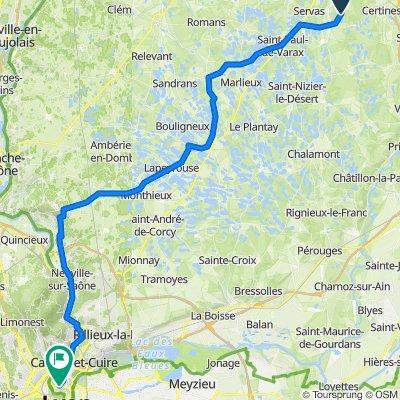 De 1346 Route de Seillon, Lent à 2 Rue Édouard Millaud, Lyon