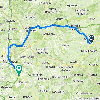 Le Montet Montluçon 62 km