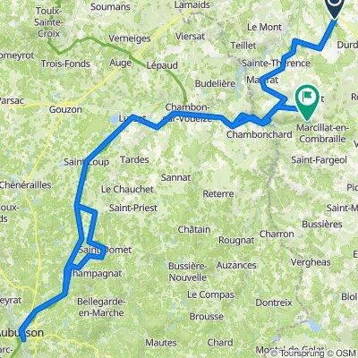 Monluçon Aubusson 90 km