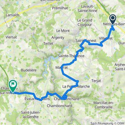 Montluçon Chambon sur Voueize 39 km