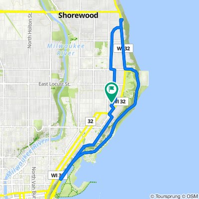 2637 N Summit Ave, Milwaukee to 2637 N Summit Ave, Milwaukee