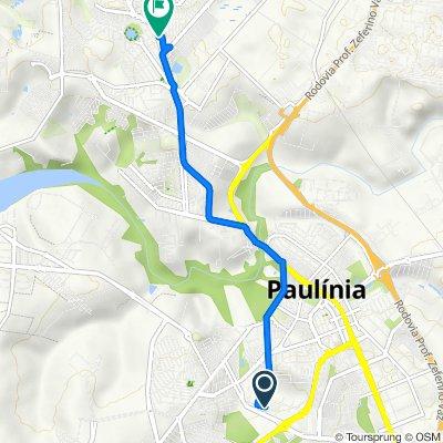 De Rua Roberto Vedovello, 285, Paulínia a Rua Antônio Argentin, 117–327, Paulínia