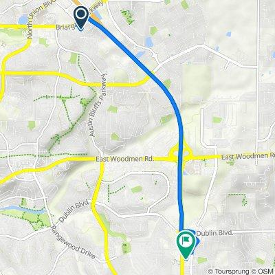 4953 Amarosa Heights, Colorado Springs to 6160 Tutt Blvd, Colorado Springs