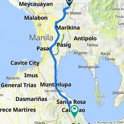 Samar 30, Quezon City to Manila South Road 38, Cabuyao
