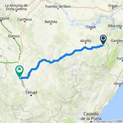 De Calle de Arriba, 26, Calaceite a Carretera Alba, Santa Eulalia