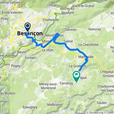 Rue de la Madeleine 1, Besançon to Rue du Champ de Foire 2, Tarcenay-Foucherans