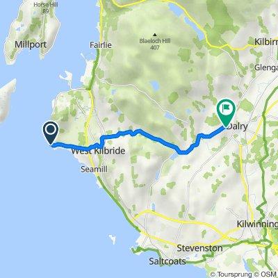 B7048, Portencross, West Kilbride to 8 West Kirklands Pl, Dalry