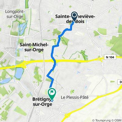 De 4 Allée des Merisiers, Sainte-Geneviève-des-Bois à Rue Henri Douard, Brétigny-sur-Orge
