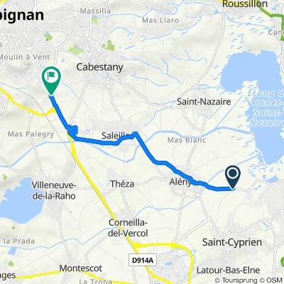 De Al Cortal, Saint-Cyprien à Route d'Elne 4000, Perpignan