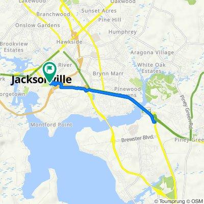 111–115 Montford Landing Rd, Jacksonville to 107–109 Montford Landing Rd, Jacksonville