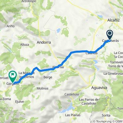 De Ronda de las Ermitas, Castelserás a Calle del Collado, 2, Gargallo