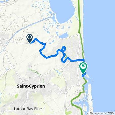 De Chemin du Passage d'Availl, Saint-Cyprien à Saint-Cyprien