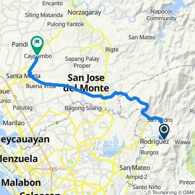 P. Rodriguez Street 508 to Norzagaray - Santa Maria Road 52