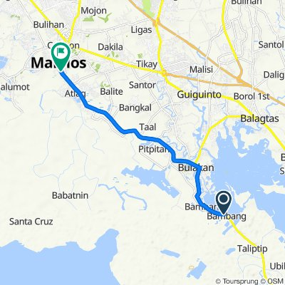 Route to 527 F T Reyes Street, Malolos City