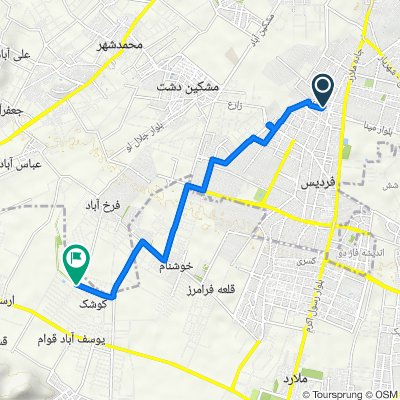 Route from محمدی اصل, فردیس