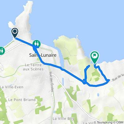 De 100 Boulevard de la Fontaine, Saint-Lunaire a 1 Rue du Port Thomas, Saint-Lunaire