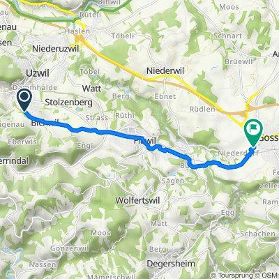 Längiwies 17, Bichwil nach Flawilerstrasse 46, Gossau