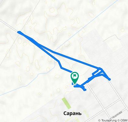 От улица Макаренко, Сарань до улица Макаренко, Сарань