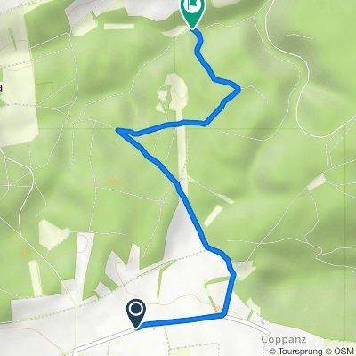 Route von K190, Bucha